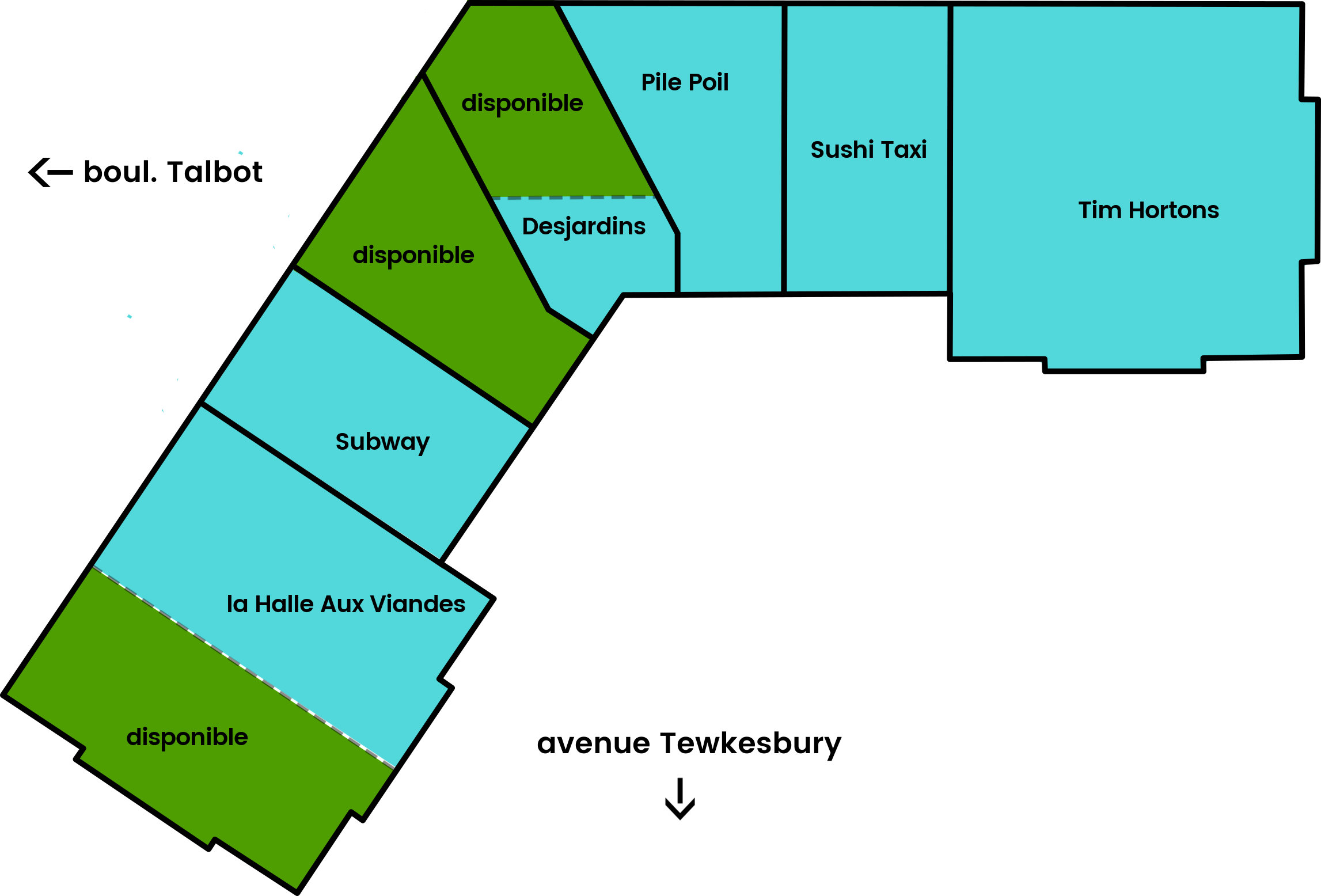 Halles Stoneham - plan phase 1