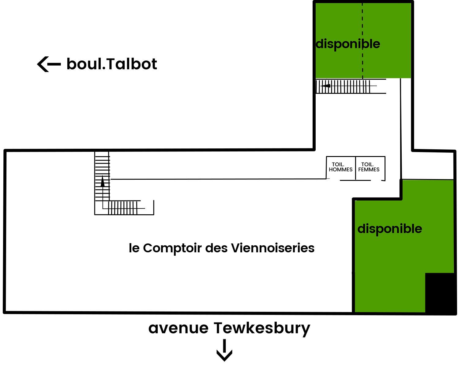 Halles Stoneham - plan phase 2 - étage